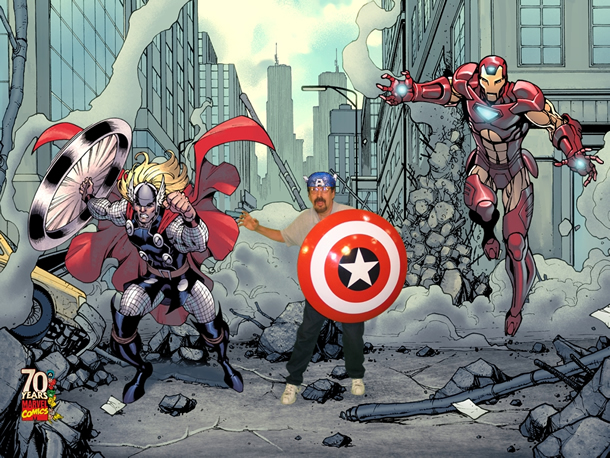 Crazy Eli is Captain America